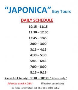 Japonica schedule
